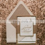 Wholesale Silver Envelope Wedding Invitation Card Glitter                                                                         Quality Choice