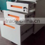 3 Drawer KD Factory 0.7 mm Mobile Mini Filing Drawer,Small Office Cabinet,Mobile Filing Cabinet for Workstation