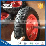 Wholesale garden nylon wheel 3.50-8 with metal axle