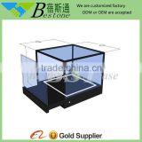 Custom made free standing table top glass display case for cosmetic shop furniture