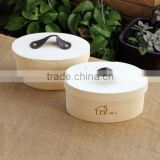 Manufacturer unfinished wooden cheese cake packaging gift box cheap small round wood cheese box