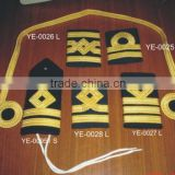 Uniforms Trimmings Embroidery Hand machine Ranks Fashion Club School Badges Emblem Shoulder Knot Braid Epaullettes