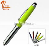 Promotional multi color marker pen with led light and metal-stylus                                                                                                         Supplier's Choice