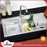 China Industrial Bathroom Accessories Modern Stainless Steel Kitchen Sink With Drain Board