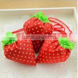 Environmental reusable wholesale cheap best quality beautiful strawberry shopping hand bag