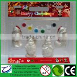 Most Popular DIY Gifts for Christmas Hanging Decoration Angel Santa Snowman Bear with 6 color painting 1 brush