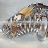Bondage Restraint Male Chastity Spiral Steel Device 45mm Ring Locking Cage/ Bondage Medical SEX TOYS/Medical products