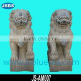 Old Stone Chinese Fu Dog Lion Statue