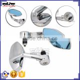 BJ-RM400-02 Wholesale Aluminum Chrome Bar End Motorcycle Mirror For Racing Bike Honda CBR600