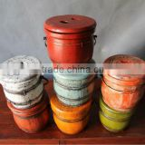 chinese antique colourful bulk wooden box
