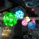 Modern Plastic DIY IQ Puzzle Wedding Pendant Light