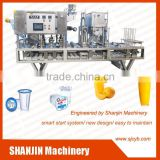 mineral water cup filling machines/plastic cup filling sealing machine/jelly cup filling sealing machine