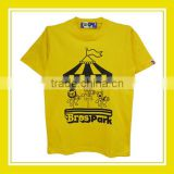 High Quality Products Bros Merry Go Round Bros Park Unisex Cotton Printed Short Sleeve Yellow T-Shirt