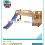 Boy's room kids solid bunk bed with slide,bunk bed with staircase#SP-C102C