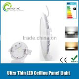 Energy saving indoor use led pane light ultra slim 6w,9w,12w,15w,18w super bright ra80 ,led light panel round 12w
