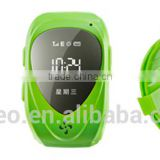 wrist gps tracker for children gps kids security watch with SOS panic button, LBS+GPS, mobile apps and long battery life