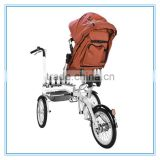 Mother And Folding Baby Bike With Mosquito Net For Baby Stroller 3 In 1