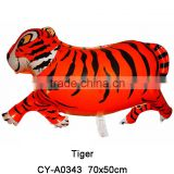 2016 Advertising Jungle Tiger shaped foil balloon Inflatable animal helium balloon party decoration