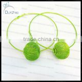 Hot sell!Fashion basketball wives mesh ball hoop earrings