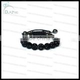 Mens black shamballa bracelet cheap