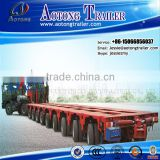 8 axles 200 tons hydraulic steering and lifting Modular trailer with power station gooseneck