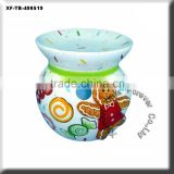 christmas ceramic incense burner