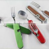 Utility travel set camping cutlery for 5 functions picnic knife