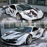 Hot Fashion Car Styling Removable Car Body Protective White Camouflage Car Vinyl Film                                                                         Quality Choice