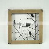 Antique iron twig tree metal wall art decor