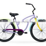 Colorful beach cruiser bicycle different speed bicycle male beach bike factory