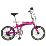 Best-selling in 2015 fashionable steel/aluminum folding bike/foldable bicycle with F/R disc brake 6speeds