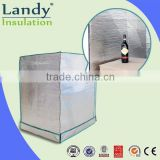 Double-sided reflective aluminum foil sheet insulation material for pallet cover