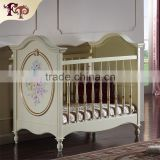 Italian classic design furniture French furniture baby bed green wooden baby bad                                                                         Quality Choice