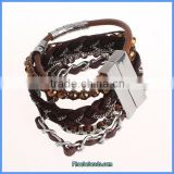 Wholesale Ready Stock Punk Style Braided Multilayer Leather Festival Bracelet FHB-005A