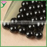 factory low prices gemstone 12mm polished ball shape genuine fire black agate loose beads
