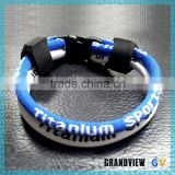 Useful 4 rope high quality germanium blue-white titanium wholesale sports necklace