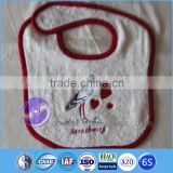 customized plain white terry cloth cheap emboridery cotton baby bib                                                                         Quality Choice