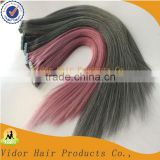 Cheap Wholesale price high quality light color double drawn gray tape hair remy blonde tape hair extension