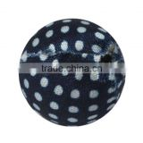 Woven Cloth Beads, Round, DarkBlue, about 20mm in diameter, hole: 3mm(CC001Y-7)