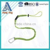 Round Single Hooks Energy Absorber Safety Lanyard