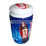 logo printed high quality giant inflatable ice bucket for beverage with drink holder