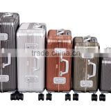"High quality aluminum luggage 18""20""24""26""29""retractable travel suit case"