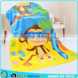 Cartoon Monkey velour print kids bath towel Monkey kids printed bath towel