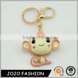 Fashion monkey keychain,new big ear monkey crystal keychain/