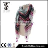 women's fashion polyester tassels long scarf shawl thin tassels thin scarves sarong