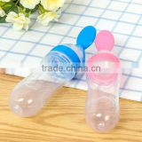 Silicone extrusion feeding spoon baby rice cereal silicone bottle soft silicone spoon cereal feeder