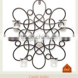 Metal wire hanging flower candle holder