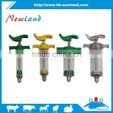 2015 NL206 20ml hot sales animal veterinary plastic steel with dose nut tpx and pc syringe