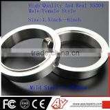 1.5inch High Quality SS304 Exhaust DownPipe male female v band flange