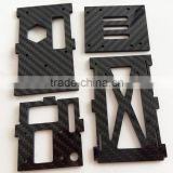 ZYH China professional manufacturer twill gloss/mat custom cnc carbon fiber rc drone frame parts 2mm 3mm 4mm
